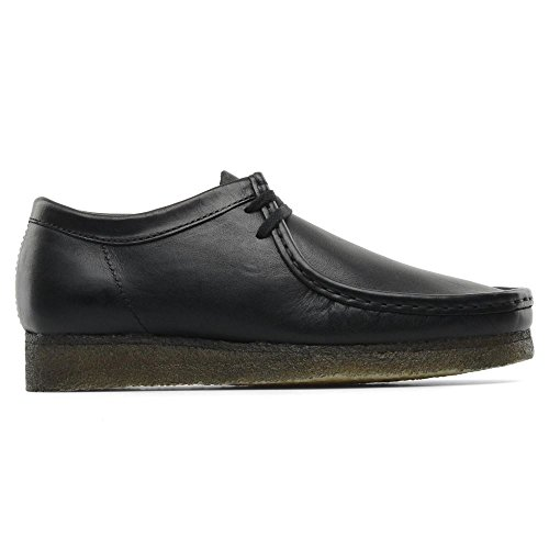clarks-originals-mens-black-wallabee-smooth-leather-shoes-uk-10