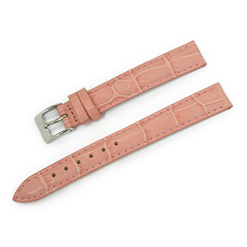 (CASSIS Donna Croco Calf Genuine Alligator Embossed Calf Leather 13mm Pastel Pink with Tool D0000312287013M)