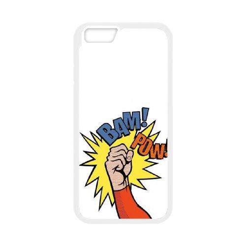 Superhero coque iPhone 6 4.7 Inch cellulaire cas coque de téléphone cas blanche couverture de téléphone portable EEECBCAAN07194