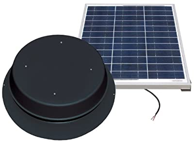 Best Cheap Deal for Solar Attic Fan - 60 Watts - 3100 sq ft - Comes with Remote Solar Panel - Black by Natural Light - Free 2 Day Shipping Available