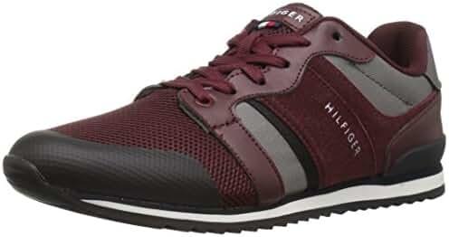 Tommy Hilfiger Men's Finsta Sneaker, Black, 7.5 Medium US