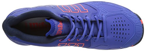 Wilson Kaos Comp W Amparo Blu/Surf the W/Fier 9, Scarpe da Tennis Donna, Blu (Amparo Blue/Surf the Web/Fiery Cora), 43 1/3 EU
