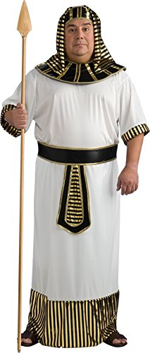 UHC Men's Pharaoh Outfit Egyptian Theme Fancy Dress Halloween Plus Size Costume