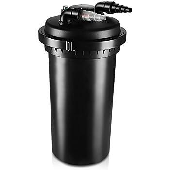 Flexzion Pond Pressure Bio Filter with Ultraviolet UV Sterilizer Light Bulb System Koi Fish Aquarium Tank Water Cleaning Supply Equipment 10000L (2700-8000 Gallons)