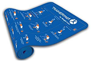 TRAINERmat 195033 for Weight Loss - Illustrated Fat Burning Exercise Mat with Perfect-Form DVD