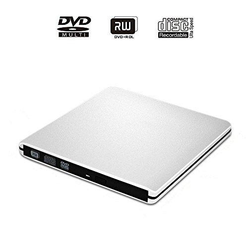 , E-More External CD DVD Drive USB3.0 Ultra Slim Portable DVD Rewriter Burner CD/DVD-RW Writer Burner for Apple Mac Macbook Pro and other Laptop Desktops (Dvd R Macbook Pro)