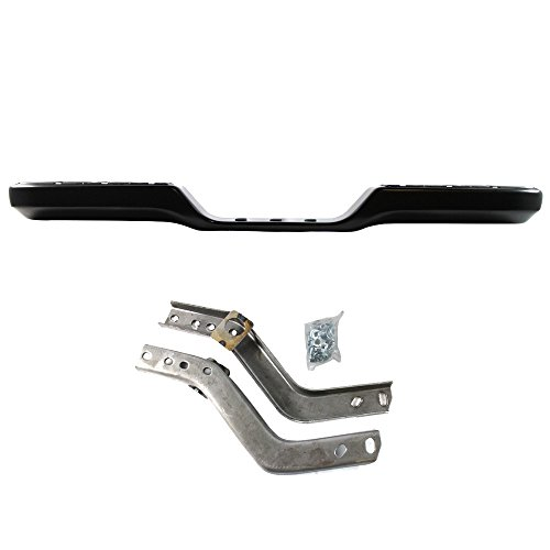 Bumper Brackets Pickup Rear - Titanium Plus Autoparts, 1989-1995 Fits For Toyota Pickup Rear Step Bumper Assy BLACK