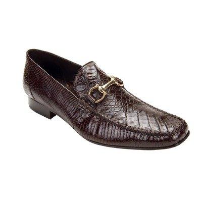 Belvedere Men's Italo Shoes,Brown Crocodile/Lizard,9 M (Mens Brown Belvedere)