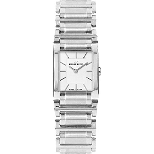 Pierre Petit Women's P-794B Serie Laval Stainless-Steel Square Case Bracelet Watch