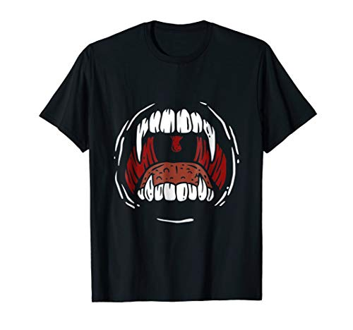 T-shirt for a dentist with a scary mouth and teeth