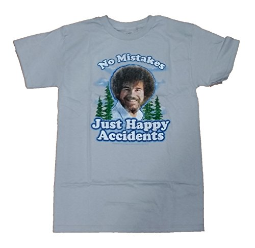 Bob Ross No Mistakes Just Happy Accidents Graphic T-Shirt - 2XL