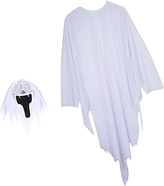 Baoblaze Disfraz de Fantasma para Niños Disfraces de Miedo para ...
