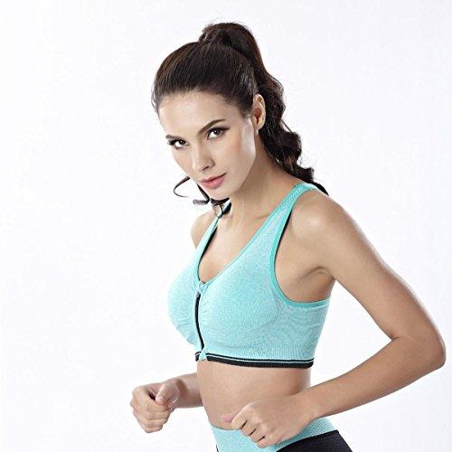 HJMTRY Shockproof Sports Bra et Yoga Pants2 pc pour la danse en cours d'exécution Gym Exercise Yoga Set , L