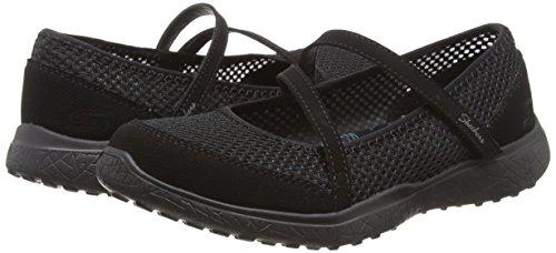 Merceditas Microburst Noir Skechers noir Pour Femmes 1055qwA