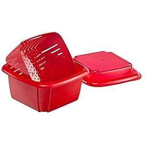 Hutzler 374RD Berry Keeper Box, 1 Quart, Red 41sptTQQsGL