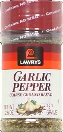 Lawry's Garlic Pepper Coarse Ground Blend, 2.6 oz Shakers, 2 -