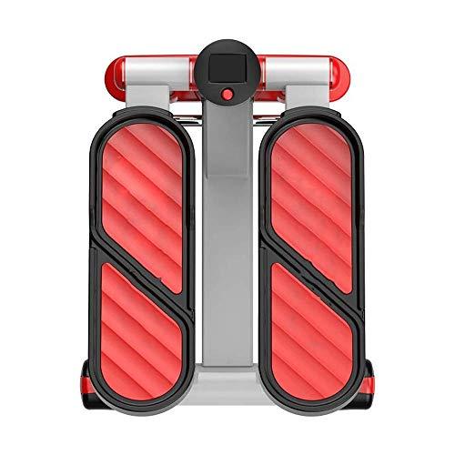 Hydraulische mute stepper, mini fitness stepper met multifunctionele monitor, beginners aërobe stepper voor…