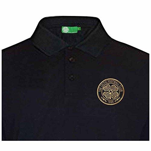 new product a795d b8f8a celtic polo shirt black