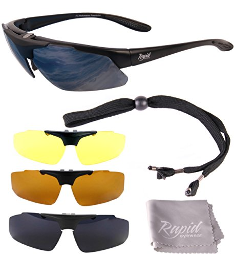 f8cee9df9dc Rapid Eyewear Aviate PILOT PRESCRIPTION SUNGLASSES FRAME Interchangeable  Lenses