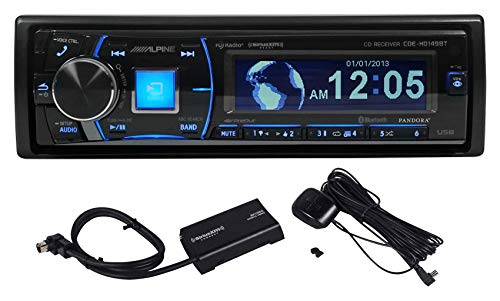 Alpine CDE-HD149BT Car CD Receiver w/Bluetooth, HD Radio+Sirius XM Tuner Kit