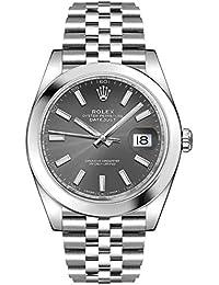 Men's Rolex Datejust 41 Dark Rhodium Oystersteel Watch (ref. 126300)