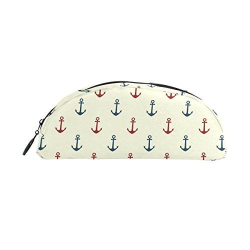 DEYYA Boat Anchor Pencil Case, Big Capacity Pen Bag Desk Organizer Semicircle Stationery Pouch Holder for School & Office ()