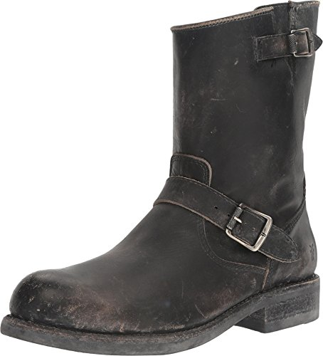 Mens Black Engineer Boots - 8