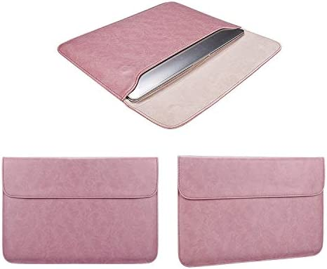 ZYS PU01S PU Leather Horizontal Invisible Magnetic Buckle Laptop Inner Bag for 13.3 inch laptops Color : Pink Pink