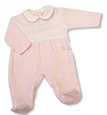 72c0c8011bb5c Nursery Time Pyjama Velours Rose Bébé - 0 3 Mois  Amazon.fr ...