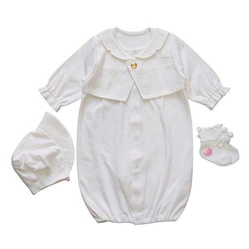 39554d10cc67c 春秋素材 男の子におすすめの3点セット 日本製 タキシードデザイン 新生児ベビー用