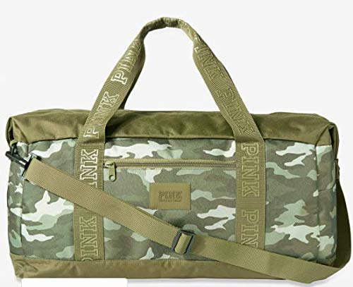 VICTORIA SECRET HUGE. PINK WASHED OUT CAMO WEEKENDER DUFFLE. - RARE - SOLD OUT. -