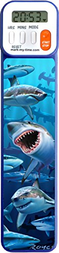 - Mark-My-Time 3D Shark Digital Bookmark and Reading Timer
