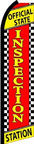 (Official State Inspection Station Standard Size Swooper Feather Flag Sign)