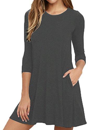 Womens 3/4 Sleeve Dress - 5