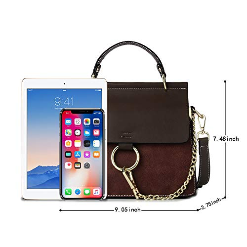 341c2cc20f9f Olyphy Designer Ring Bags for Women, Mini Shoulder Purses Leather Crossbody  Bag with Chain