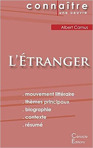 Amazon.fr - Fiche de lecture L\'Etranger de Albert Camus (Analyse ...