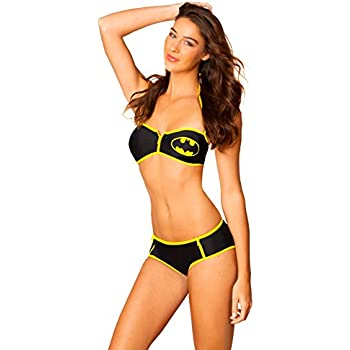 DC Comics Womens Batman Push Up Bikini and Double Bikini Board Short