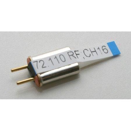 Hitec Receiver Crystal Ch 16 (all D.C. 72MHz FM) (Hi Tec Crystals)