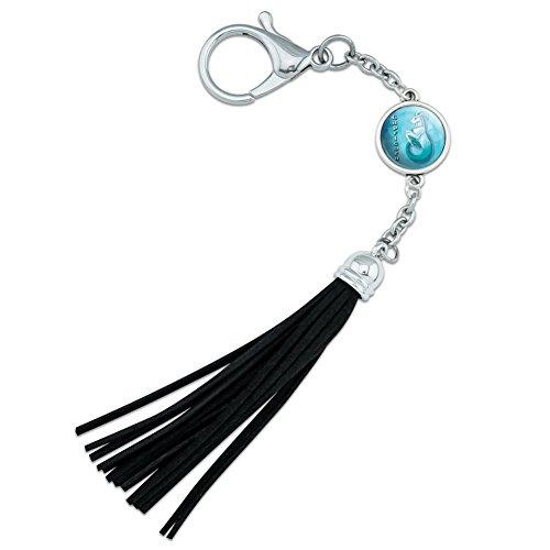 Capricorn Zodiac Backpack Handbag Purse Sports Bottle Keychain Tassel Charm