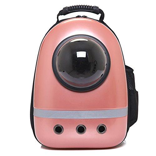 Rose Bed Packs - Vedem Pet Carrier Traveler Bubble Backpack for Cat Dog (Rose Gold)