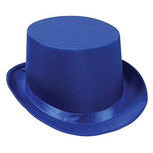 Satin Sleek Top Hat (blue) Party Accessory  (1 count)
