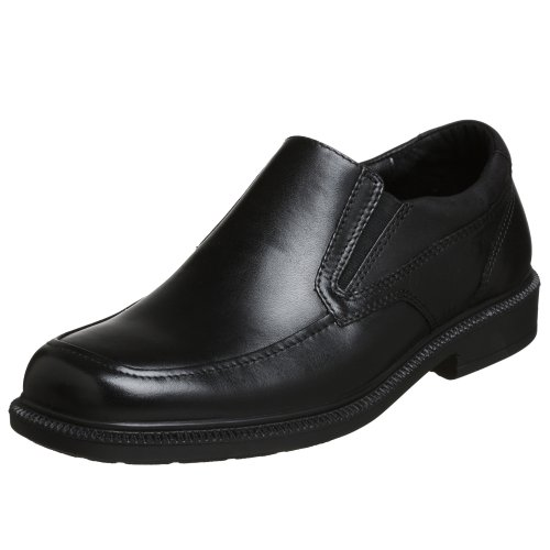 Hush Puppies Men's Leverage Slip-On Loafer, Black, 10.5 M US (Black Leather Slip On Shoes For Men)