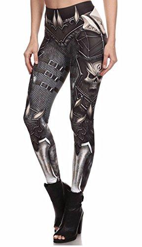 Sexy&Stylish Sexy&Stylish BARBARIAN Women Leggings Printed Leggins Woman Pants Black&grey One Size