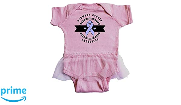 35fc45594e27 Amazon.com  inktastic - Stomach Cancer Awareness with Periwinkle Infant  Tutu Bodysuit 32a76  Clothing