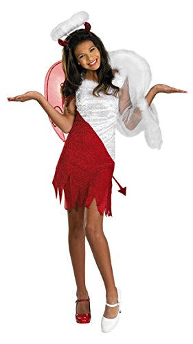 Angel Halloween Costumes For Tweens (Sassy Scene Heavenly Devil Deluxe Tween Costume, Large (10-12))
