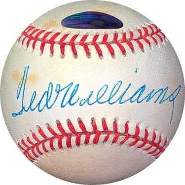Autographed Ted Williams Ball - ROAL Rawlings Official American League minor tone spots Hologram) - Steiner Sports Certified