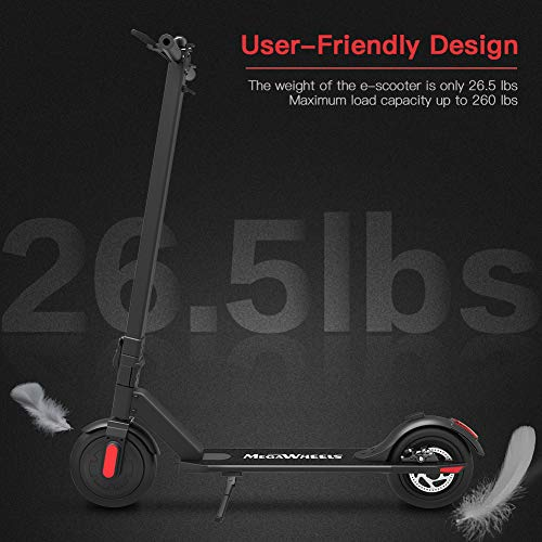 MEGAWHEELS Electric Scooter - Up to Miles MPH Portable and Lightweight for Adults