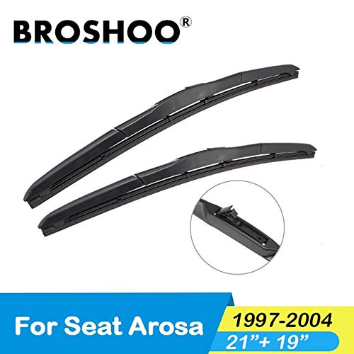 - Wipers Hukcus Car Windscreen Wiper Blades Natural Rubber For Seat Arosa,Fit Standard Hook Arm 1997 1998 1999 2000 2001 2002 2003 2004 - (Color: Arosa 2119)