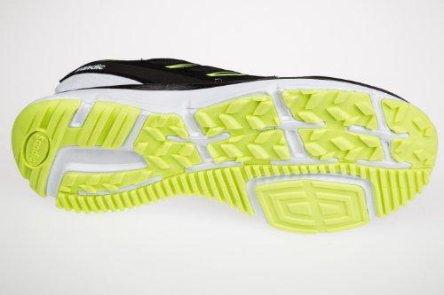 Gibra, zapatillas deportivas para hombre Negro - Noir - Nero / Bianco / Verde Neon