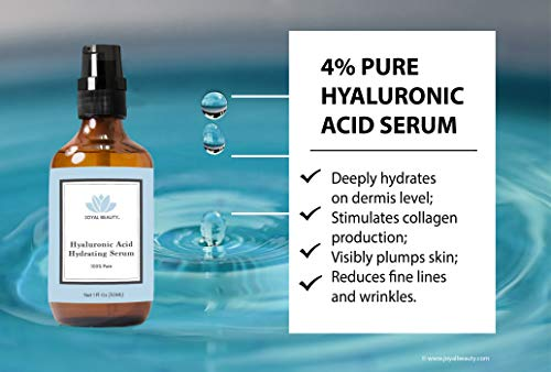 Hyaluronic Acid Serum For Face Skin Eyes Lips By Joyal Beauty Best Anti Aging Hydrating